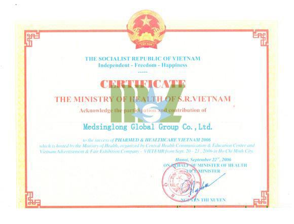 Vietnam Certificate